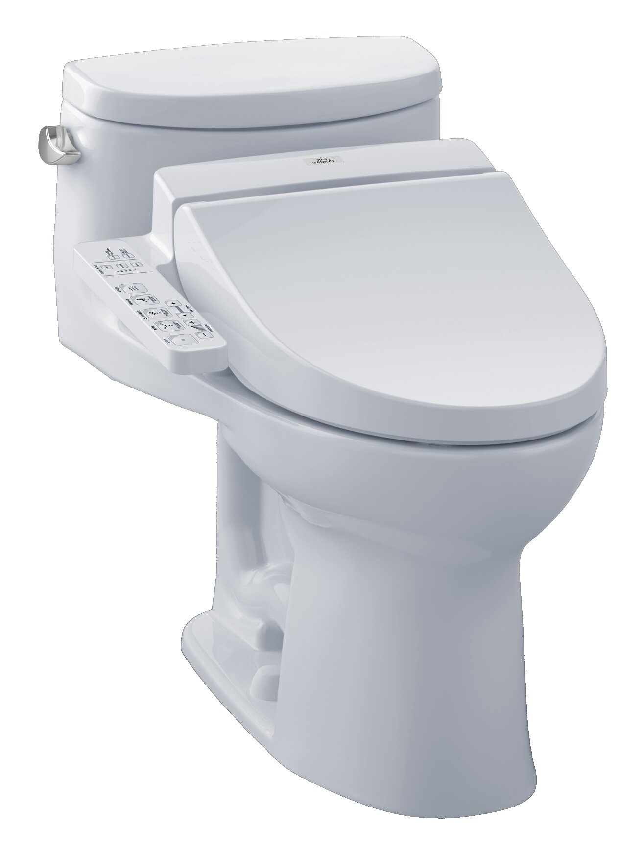 Toto Supreme 1.28 GPF (Water Efficient) Elongated One-Piece Toilet ...