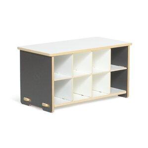 halle kids cubby shoe storage bench