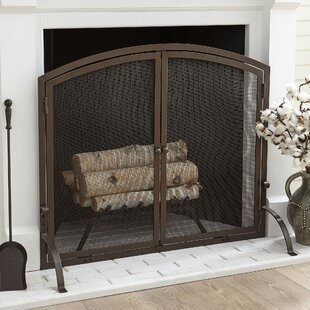 Chambers Single Panel Steel Fireplace Screen