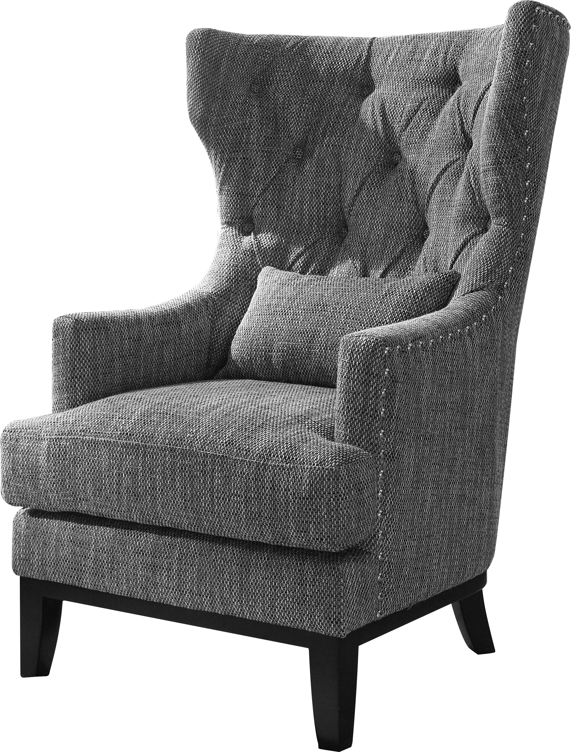Patterned Wingback Chair New Decorating Ideas
