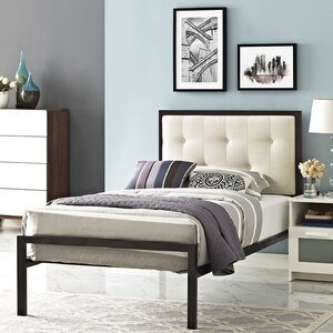 Lottie Upholstered Fabric Platform Bed