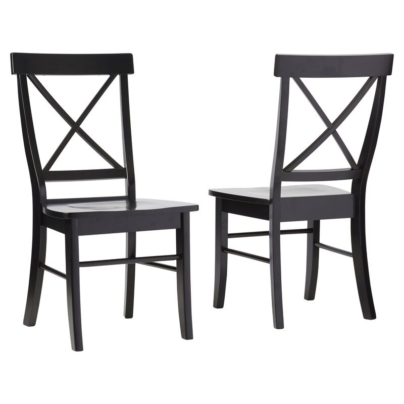 august grove sawyer cross back solid wood dining chair reviews wayfair. Black Bedroom Furniture Sets. Home Design Ideas