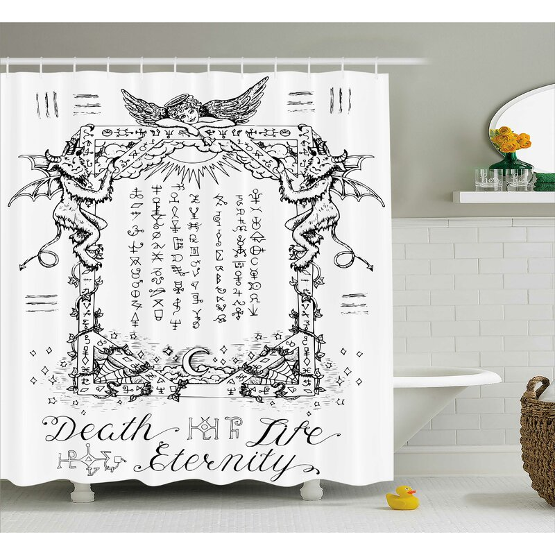 White Gothic Medieval Magic Shower Curtain