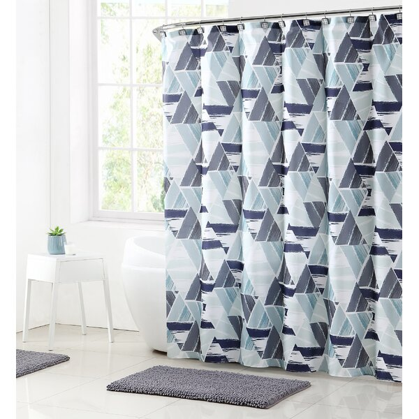 Ivy Bronx Bolinger Modern Mosaic Shower Curtain Set Reviews