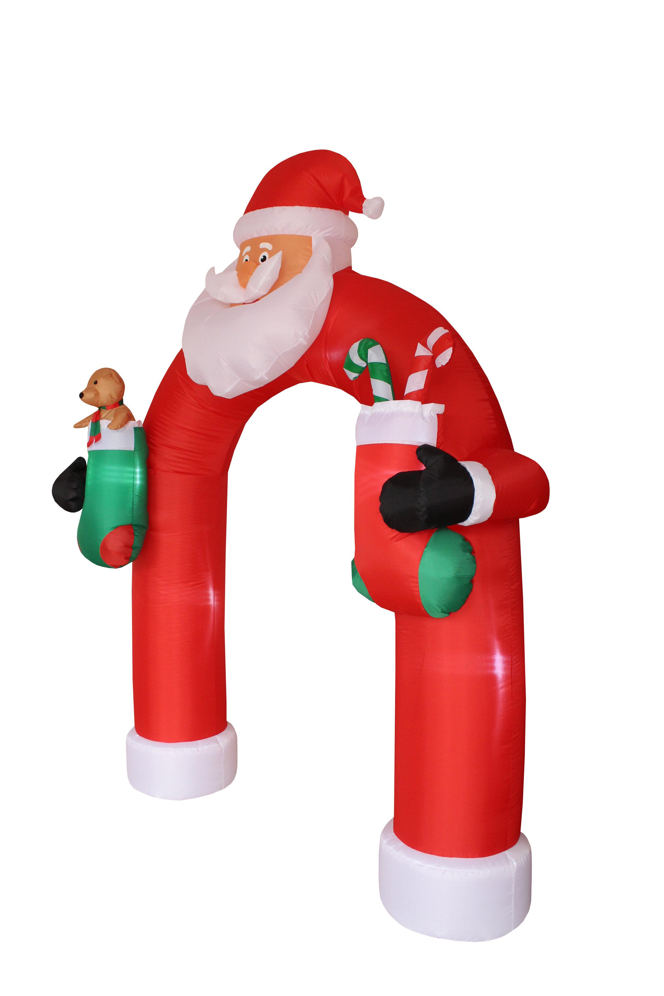 The Holiday Aisle Santa Claus Teddy Bear Sugar Cane Arch Christmas ...
