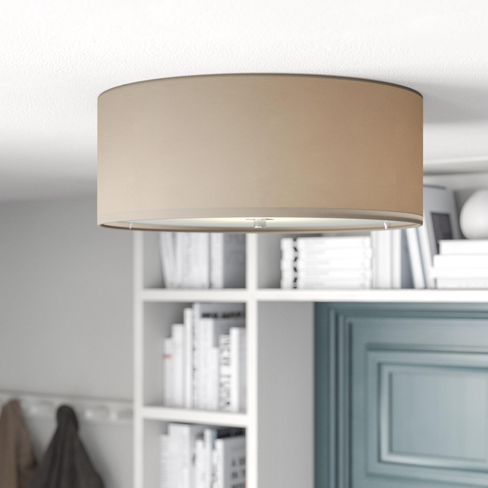 Rectangle flush ceiling light wayfair co uk