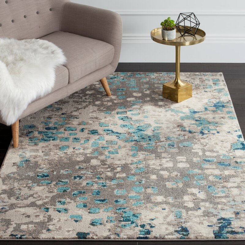 Crosier Grey U0026 Light Blue Area Rug