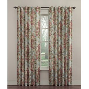 Spring Bling Nature/Floral Room Darkening Thermal Rod Pocket Single Curtain Panel