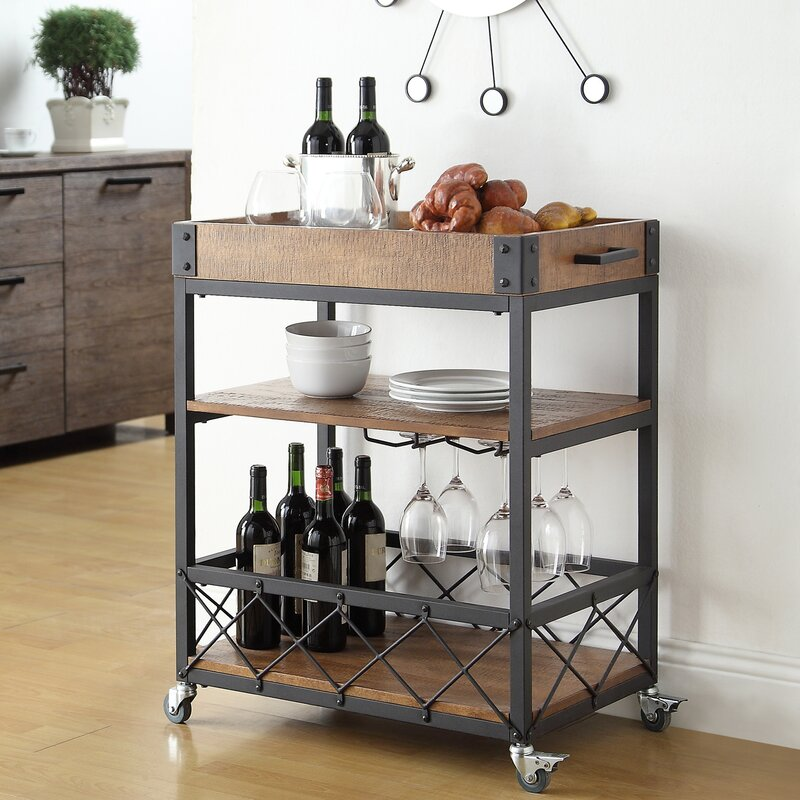 Mercury Row Zona Kitchen Cart & Reviews | Wayfair