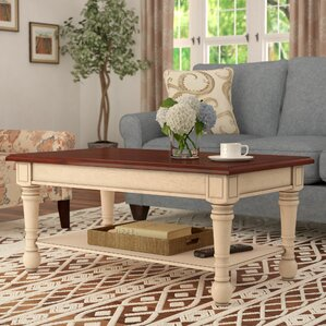 Classic Two Tone Coffee Table by Three Posts