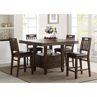 Rodriguez 5 Piece Pub Table Set
