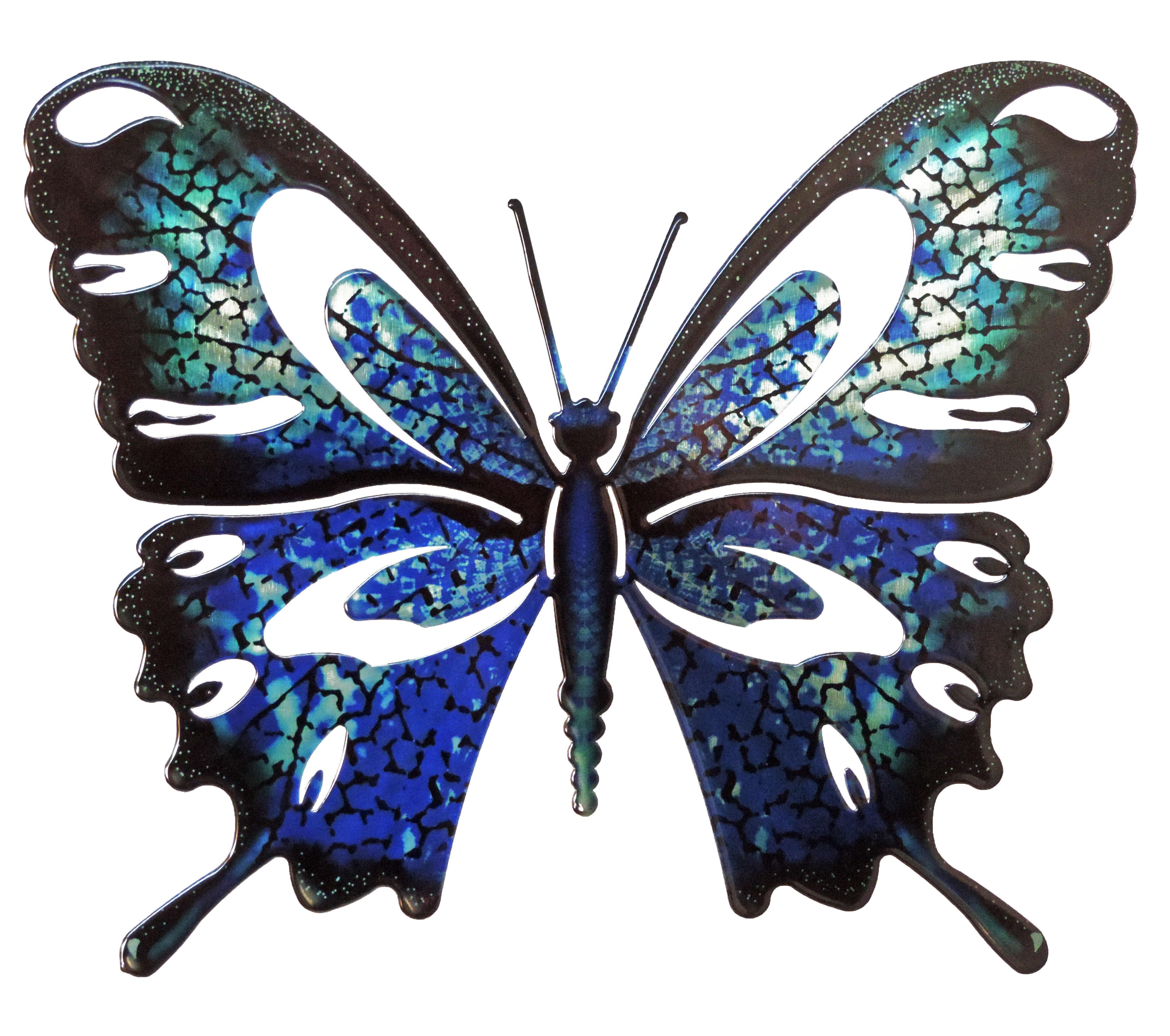 August Grove Stadtfeld Butterfly 3D Wall Décor
