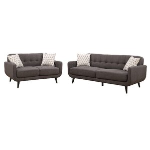 Crystal 2 Piece Living Room Set by AC Pacific