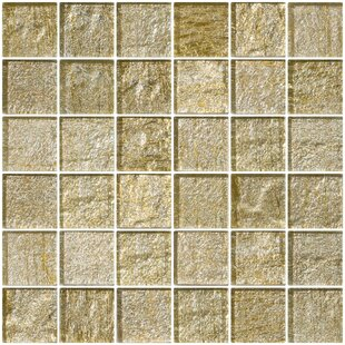 2 X Gl Mosaic Tile In Gold Silver