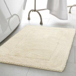 ruffle cotton bath rug