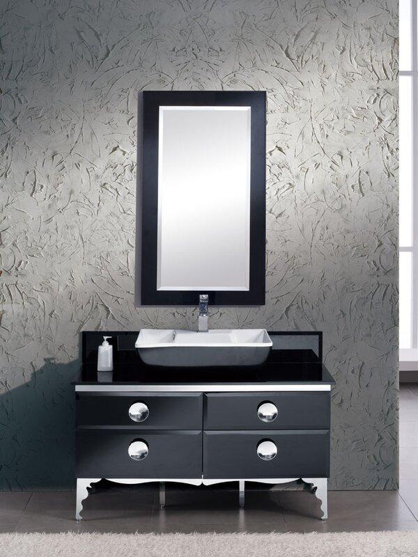 modern glass bathroom vanities. Moselle 47\ Modern Glass Bathroom Vanities