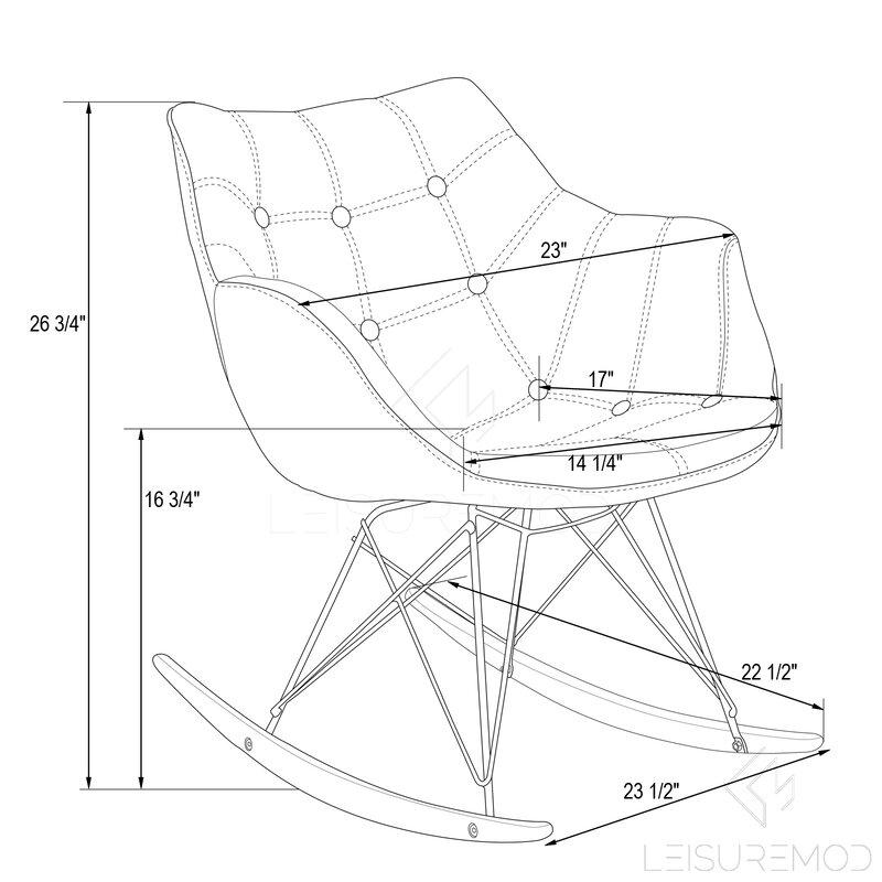 LeisureMod Willow Rocking Chair Reviews
