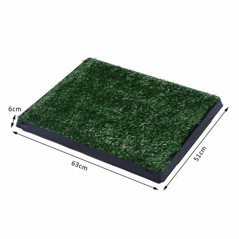 Pawhut Indoor Dog Toilet Mat in Green and Black & Reviews | Wayfair ...