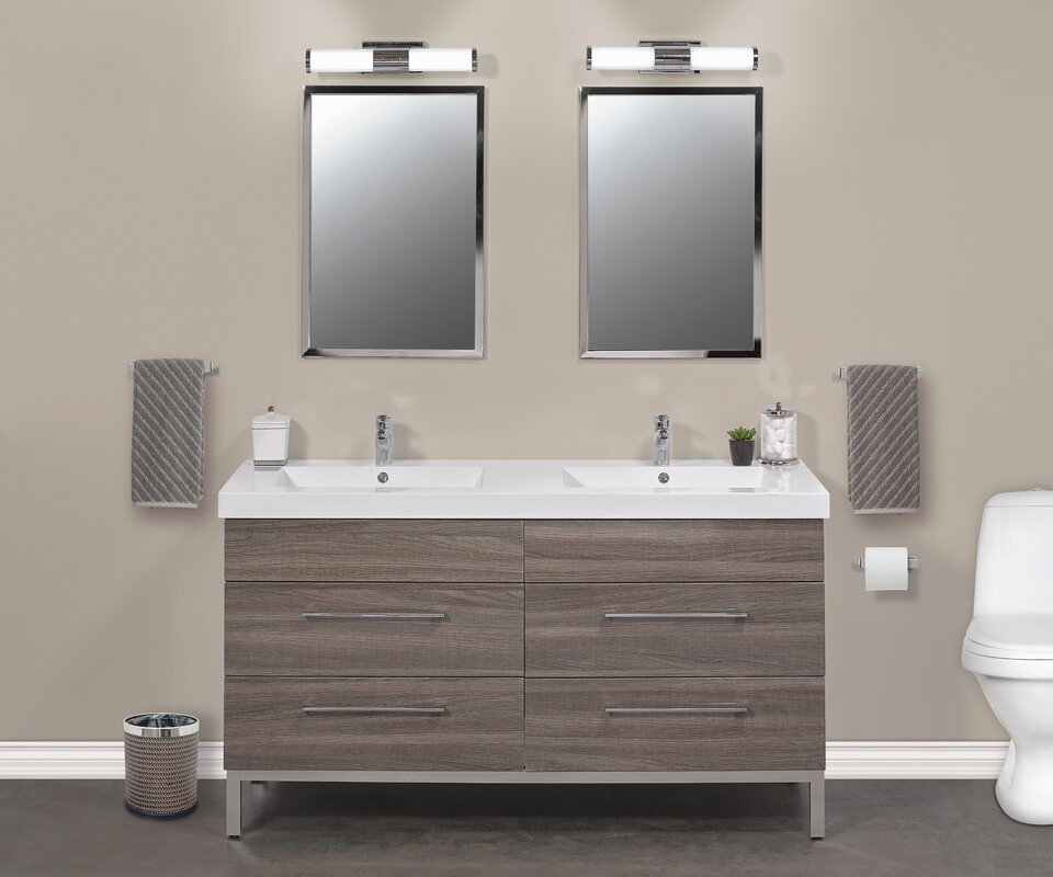 60 Double Sink Bathroom Vanity. Daytona 60  Double Sink Bathroom Vanity Set Empire Industries