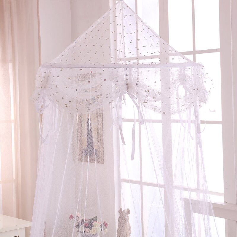 Buttons and Bows Kids Collapsible Hoop Sheer Bed Canopy & Casablanca Kids Buttons and Bows Kids Collapsible Hoop Sheer Bed ...