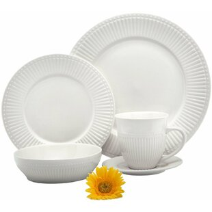 Italian Classic Premium 16 Piece Dinnerware Set Service for 4  sc 1 st  Wayfair & Italian Style Dinnerware | Wayfair