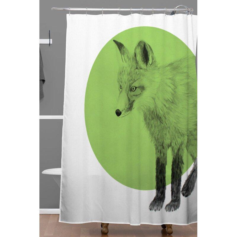 Morgan Kendall Fox Shower Curtain
