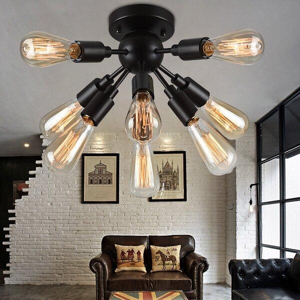 antique spotlight cabin top industrial flush mounts youll love wayfair
