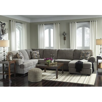Charlton Home Ellicottville UShaped Sectional Reviews Wayfair - Coffee table for u shaped sectional