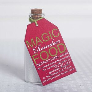 'Magic Reindeer Food' Tag with Container