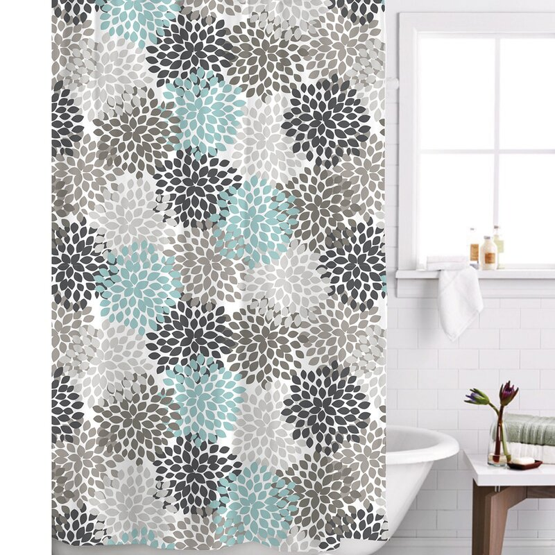 Default nameFamous Home Fashions Charlotte Shower Curtain   Reviews   Wayfair. Brown And Turquoise Shower Curtain. Home Design Ideas