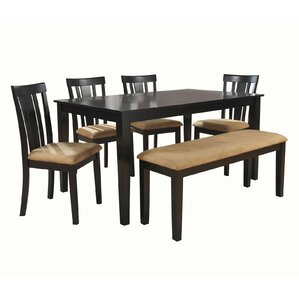 Oneill Modern 6 Piece Wood Dining Set by Andover..