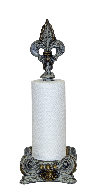 Hickory Manor House Fleur De Lis Top Paper Towel Holder Wayfair