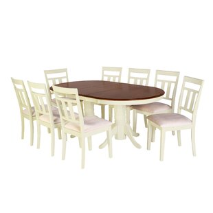 Bellino 9 Piece Extendable Solid Wood Dining Set