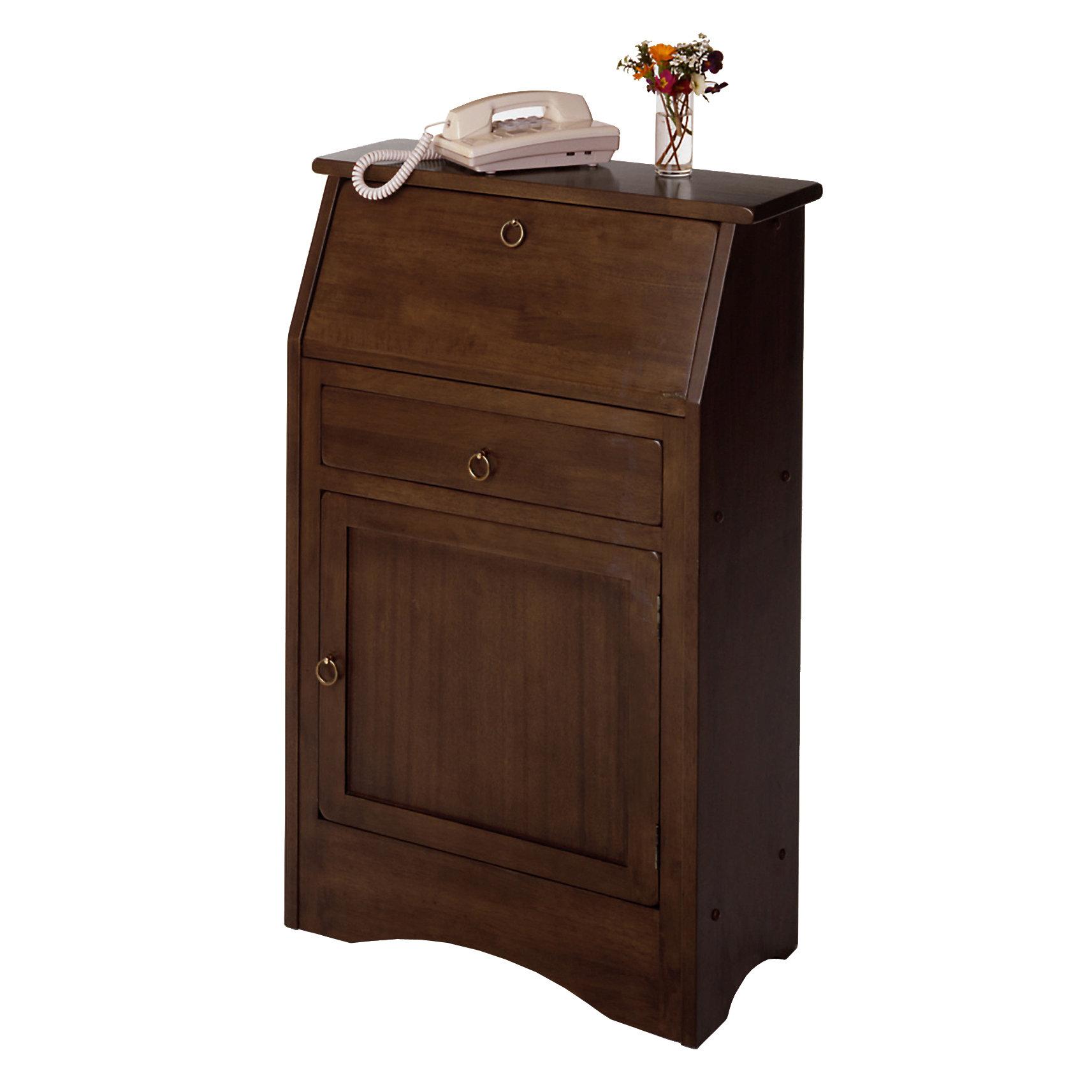 bf0d2026293b Red Barrel Studio Lotts Solid Wood Secretary Desk   Reviews