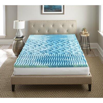 Alwyn Home Cleo Sleep Cool Gellux 2 Gel Memory Foam Mattress Topper