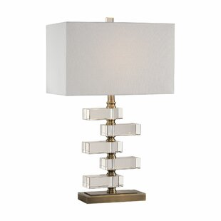 Stacked crystal lamp wayfair olmstead spilsby stacked crystal block 165 table lamp aloadofball