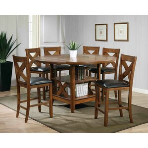 Wonderful Lodge 7 Piece Counter Height Dining Set