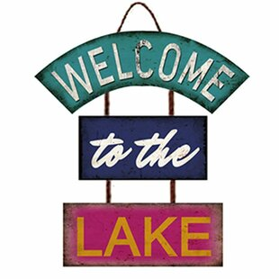 Welcome To The Lake Signs Wayfair