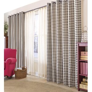Thermalogic Plaid & Check Thermal Tab Top Curtain Panels (Set of 2)