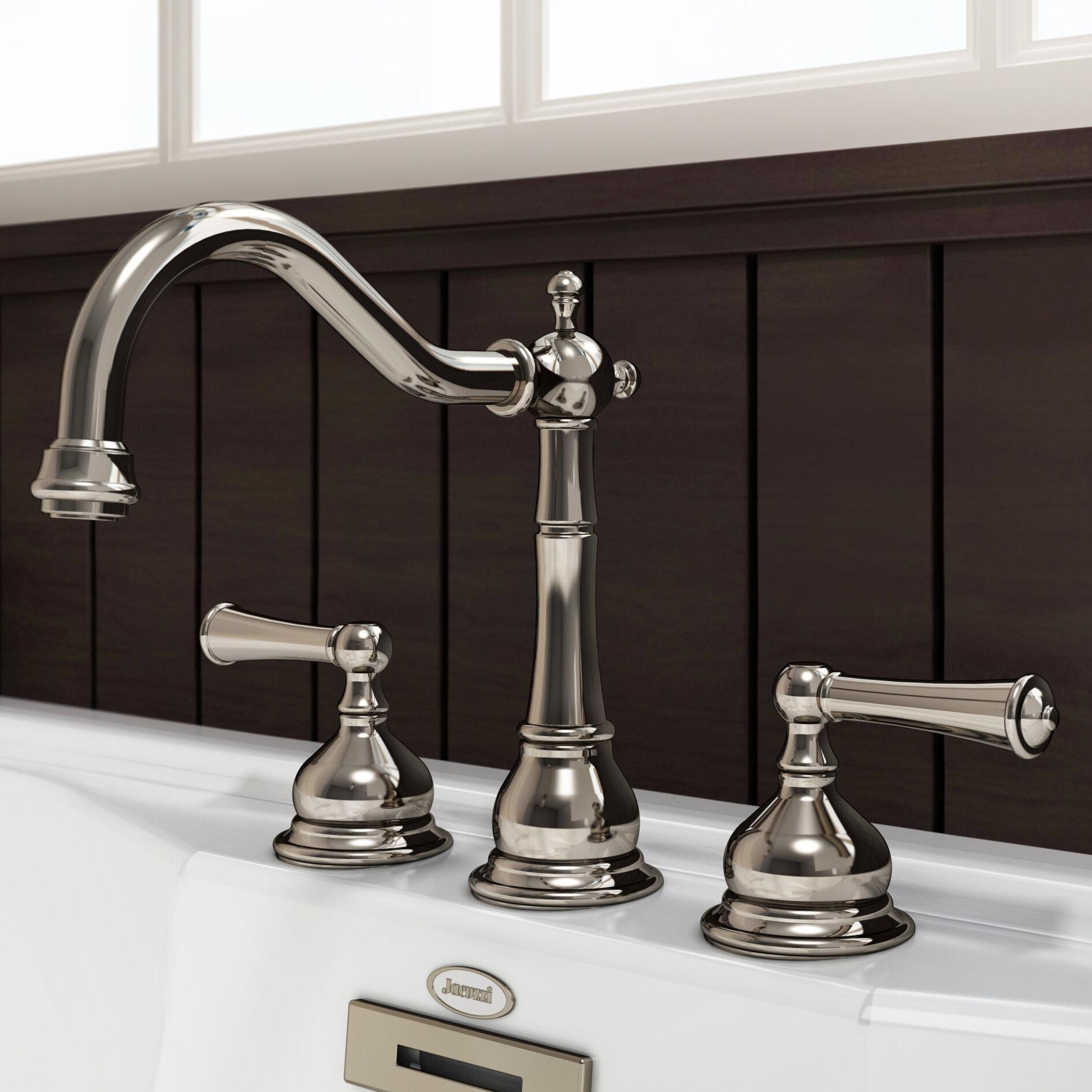 Jacuzzi® Barrea Double Handle Deck Mount Roman Tub Faucet Trim | Wayfair