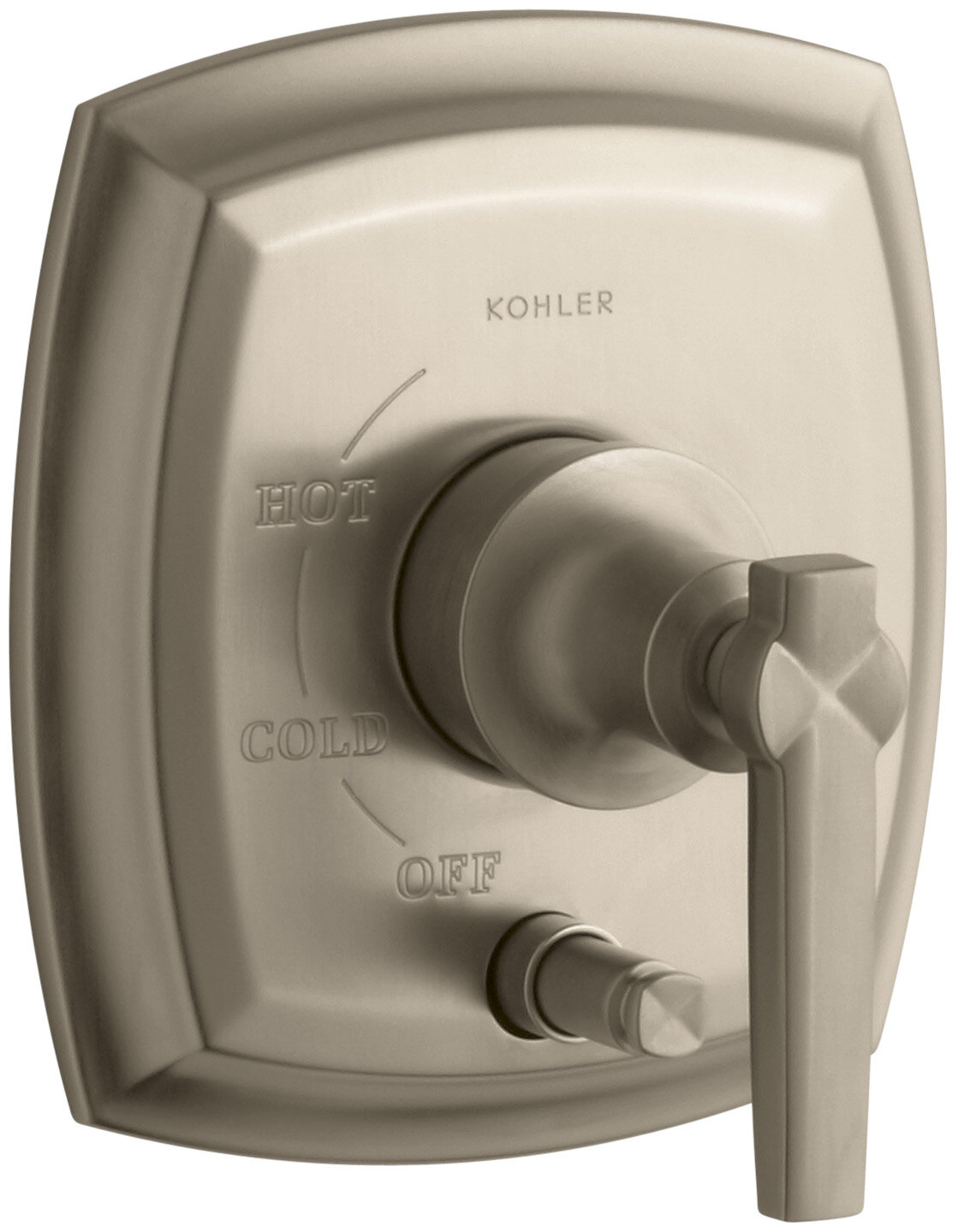 Valve not Include Polished Chrome Kohler K-T98759-3-CP Margaux Rite-Temp Pressure-Balancing Trim with Push-Button Diverter and Cross Handles
