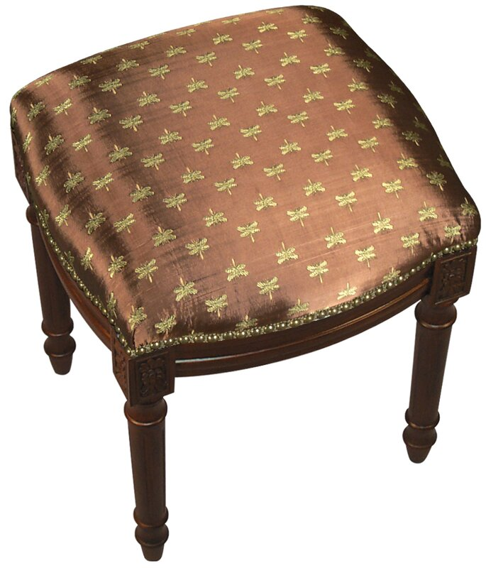 123 creations dragonfly upholstered vanity stool with Upholstered vanity chairs for bathroom