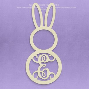 Unfinished Monogram Bunny Decor