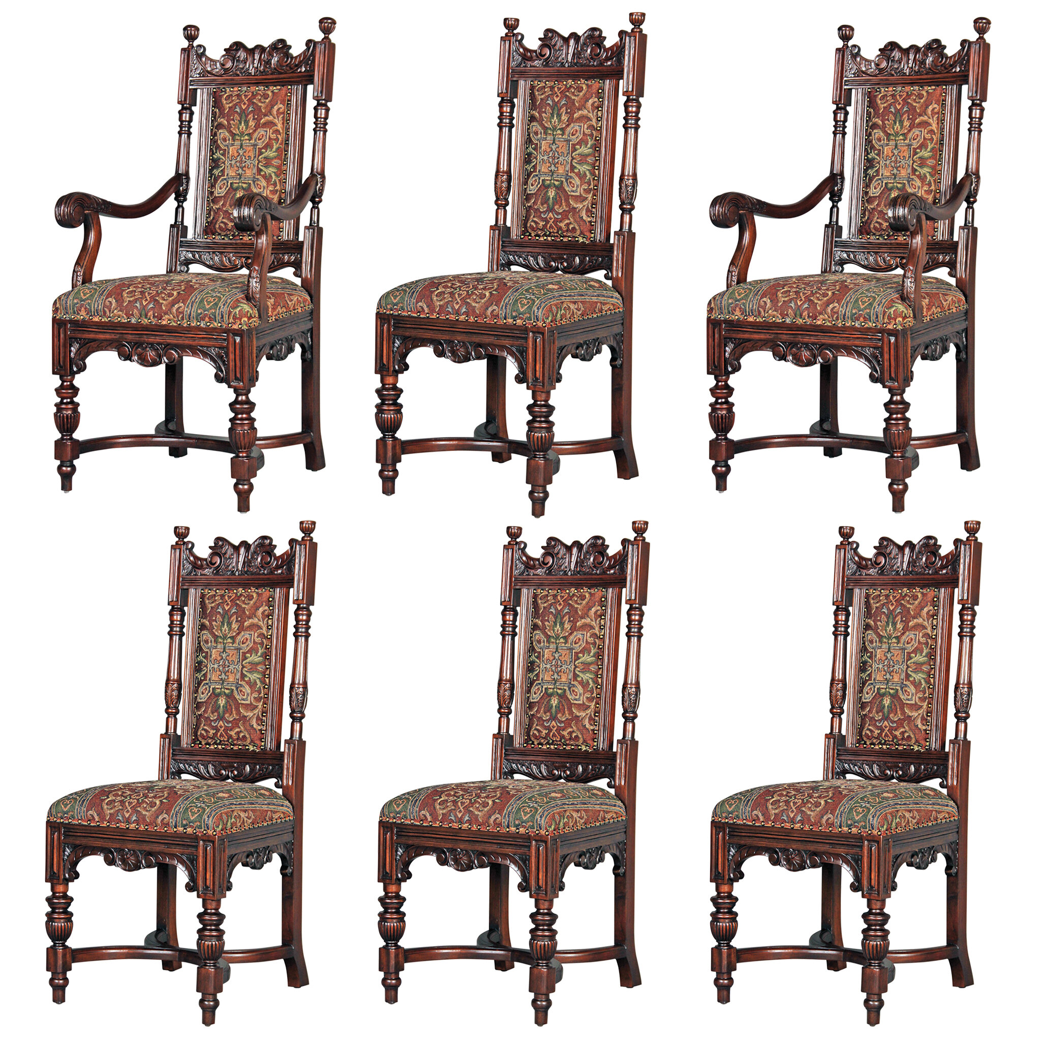 Design Toscano 6 Piece Grand Classic Edwardian Chair Set | Wayfair