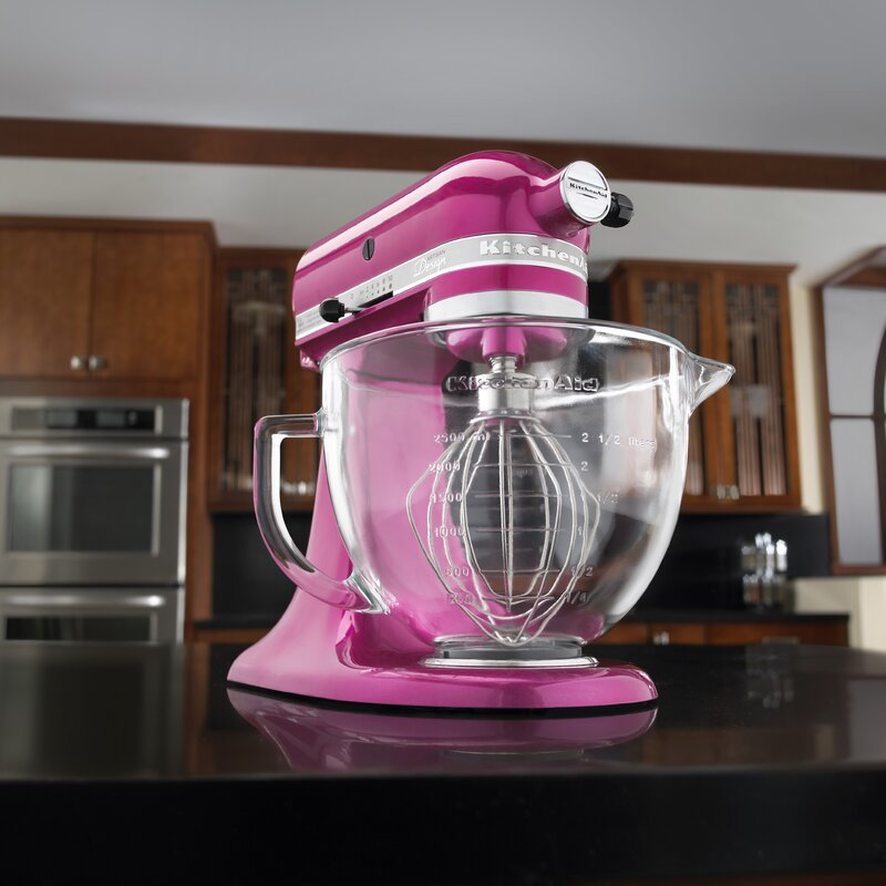 kitchenaid artisan design series 5 qt stand mixer with glass bowl reviews wayfair. Black Bedroom Furniture Sets. Home Design Ideas