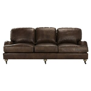 Georgios Leather Sofa by Bay Isle Home