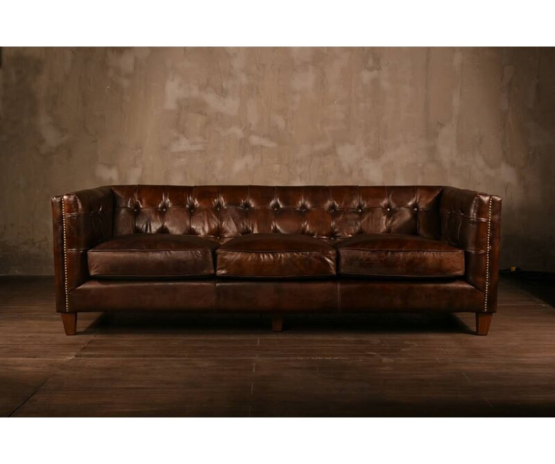 PoliVaz Leather Chesterfield Sofa | Wayfair