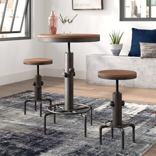 Carmona 3 Piece Adjustable Pub Table Set