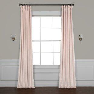 Pink Velvet Curtains Drapes Youll Love Wayfair