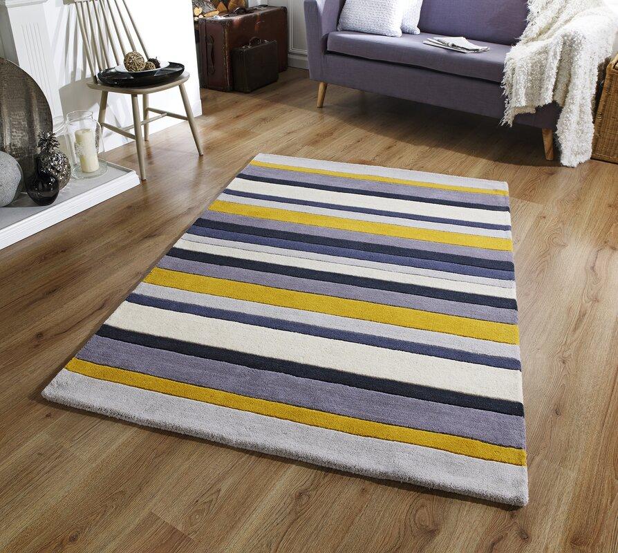 metro lane handgewebter teppich paris aus wolle in grau gelb bewertungen. Black Bedroom Furniture Sets. Home Design Ideas